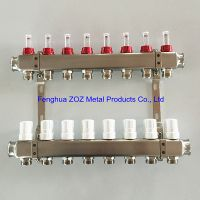 8 Port Stainless Steel Underfloor Heating Manifold Set
