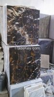 Black & Gold Marble Tiles, Slabs, Blocks