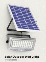 10W solar outdoor wall light night vision sensor and PIR motion sensor security light, led flood light 1000lm