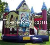 Hot selling commercial inflatable princess bouncy castle for kids