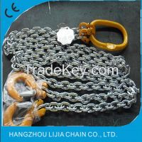 G80 alloy steel double leg lifting chain sling