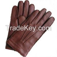 Leather glove for men