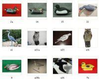 Decoy duck/goose/crow/owl/pigeon