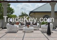 Poly Rattan, Wicker furniture sofa set