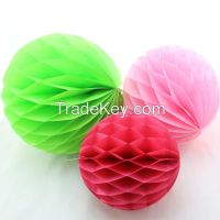 Tissue Paper Honeycomb Balls for Party Wedding Decorations