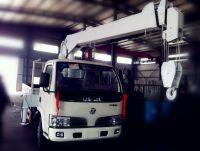 5ton hydraulic telescopic boom truck mounted crane SQ503 in new condition