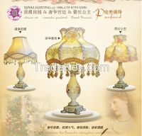 Fashion contracted Europe type resin lamp