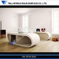 Pure Acrylic Solid Surface Modern Office Design Furnitures High End Execuitve Office Desk