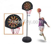2 in 1 Combo vertical basketball board and dart board