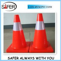 2014 hot sale 18inch pvc traffic cone wholesale