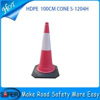 2014 Hot sale 100cm height HDPE material Reflective Traffic Cone
