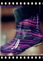 stocking for rain boots