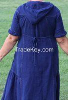 Long linen dress, suitable for big sizes.