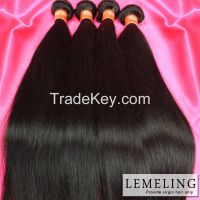 Factory price 100% virgin unprocessed Brazilian hair bundles Straight