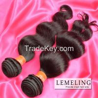Grade 6A Brazilian hair 100% human hair weaving