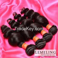 Brazilian virgin hair loose wave superior quality human hair weaves no Chemical hold intact cuticle human hair