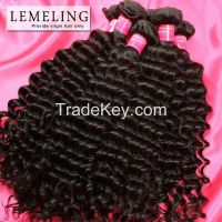 Wholesale Dyeable Brazilian Peruvian Malaysian Virgin Hair Deep Wave Human Hair Weaving for Black Women