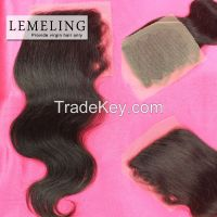 Full cuticle Brazilian virgin hair lace front top Closure wholesale
