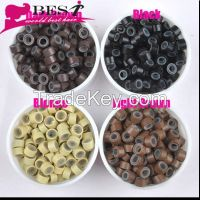 wholesale price high quality hair extension tools silicone micro ring 1000pcs/bottle
