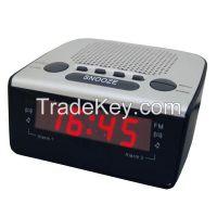 0.6 Inch Home Digital PLL AM FM Led Alarm Clock Radio Receiver with Dual Alarm