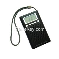 Portable outdoor mini pocket LCD Alarm Stereo Radio receiver