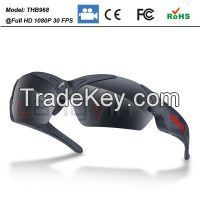 Sport camera sunglasses video glasses with 1080p camcorder polarized lens CE/FCC/ROHS