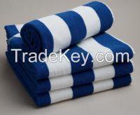 100%Cotton terry striped beach towel