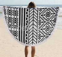 cotton  Round Beach Towel With Tassels