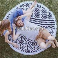 cheap wholesales 1500mm round beach towel