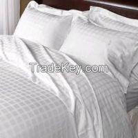 100% cotton hotel white bed sheet set cheap price