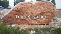 China Cloudy Rosa Marble Landscape Stone, Carving Stone for Garden Decoration