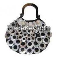 Shell handbag with horn handle