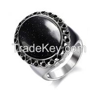 Wholesale Cheap Black Onyx Gemstone Mens Rings