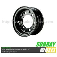 Two piece wheels for forklift trucks