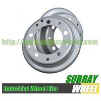 Solid tyre wheel rim
