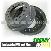 Solid forklift tyre split wheel rim