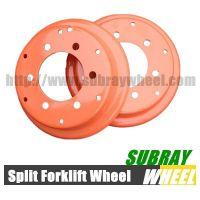 3 Wheel electric forklift wheel solid tire rim