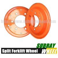Industrial wheel Rim for forklift tube and solid tire