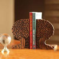 ExclusiveLane Tree Of Life Book End In Sheesham Wood