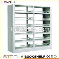 High quality double side steel bookshelf