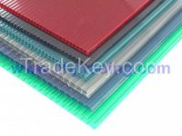 Anti-drip 2 layer Hollow Polycarbonate Sheet 10 Years Guarantee