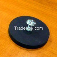 Neodymium magnetic rubber coated pot magnet