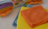 Superfine quality microfiber terry cleaning cloth towel