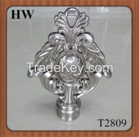 2014Best Sales Home Decoration Aluminum Alloy Curtain Finial T2809 for curtain poles