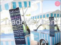 8 flavors new style  gelato vending cart