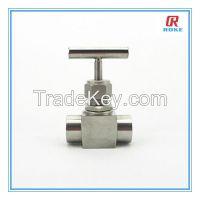 "1/2"" NPT female stainless steel 316 6000psi instrument needle valve"
