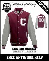personalised American football baseball Letterman jacket