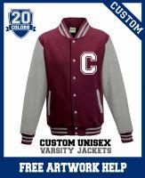 Boys American Football team varsity jackets Letterman logo print
