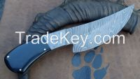 custom handmade damascus steel  knife