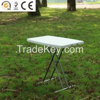Hotsale outdoor height adjustable folding table for kids study table/portable computer table